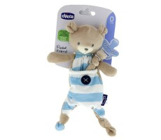 CHICCO Maskotka do smoczka Pocket Friend Niebieska