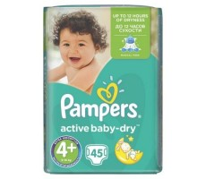 Pampers Active Baby Dry Value Pack 4+ Maxi Plus 45 szt