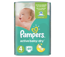 Pampers Active Baby Dry Value Pack 4 Maxi 49 szt