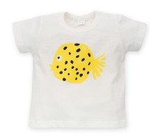 Pinokio T-shirt Little Fish ecru 74-98